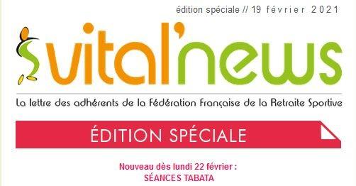 Info Edition spéciale Vital'news du 19/02/2021